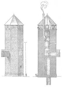 Steinsberg Baden tysk bergfried 1100-tal